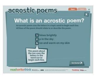 Acrostic Poems - ReadWriteThink | School apps and info. | Scoop.it