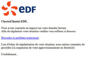 Clients EDF : attention aux faux e-mails | fb27 Infos | Scoop.it