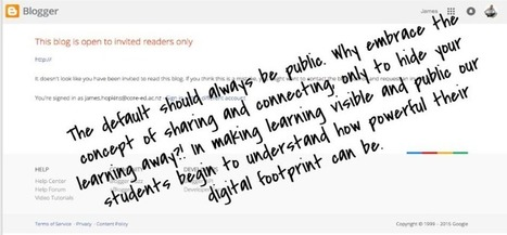 Using blogs to make learning visible - Innovate My School | Moodle and Web 2.0 | Scoop.it