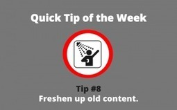 How to Keep Your Old Content Fresh | Real PRO Blog Advisor | Scoop.it