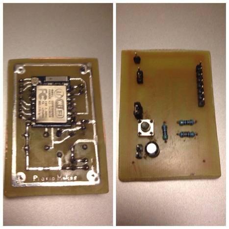 "Maks on Instagram: ""my first electronic card. #DIY #esp8266 #arduino"" | Raspberry Pi | Scoop.it"