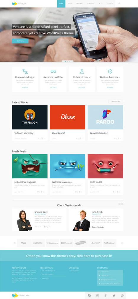 Venture, WordPress Premium Corporate Creative Theme | WP Download | Premium Joomla Templates Download | Scoop.it