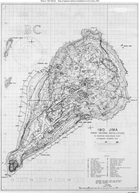 Primary Source; Battle Map of Iwo Jima | Battle of Iwo Jima | Scoop.it