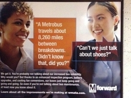 D.C. Metro Ad Says Women Care More About Shoes Than Train Reliability | Psychology of Consumer Behaviour | Scoop.it