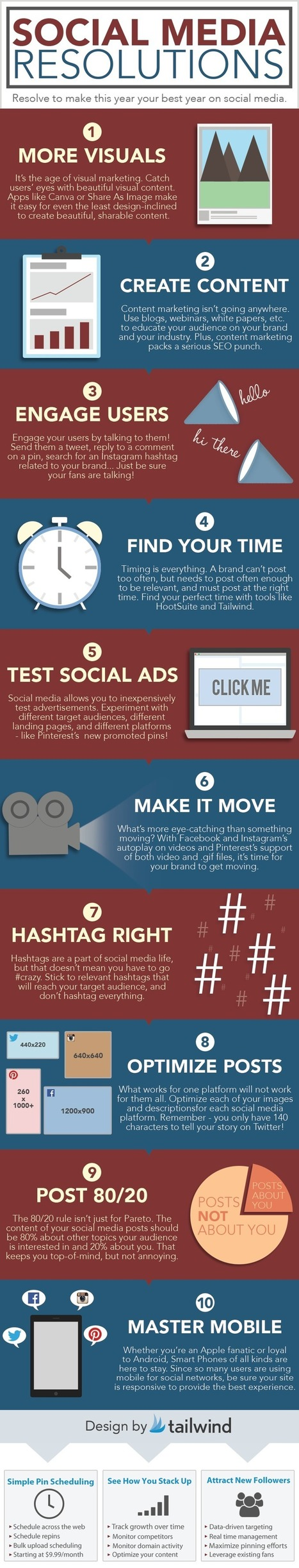 Social Media New Year's Resolutions [#INFOGRAPHIC] | Social Media  & Community Management | Scoop.it