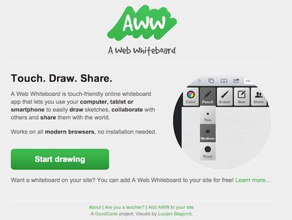 7 services en ligne pour avoir un tableau blanc collaboratif | Autour du Web | SaaS | Scoop.it