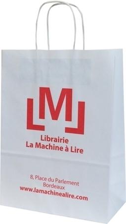 Le sac papier kraft réalisé pour la librairie La Machine À Lire à Bordeaux   Sac papier publicitaire   Scoop.it