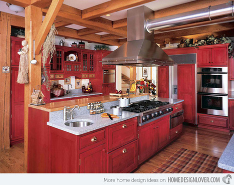 15 Stunning Red Kitchen Ideas | What Surrounds You | Scoop.it