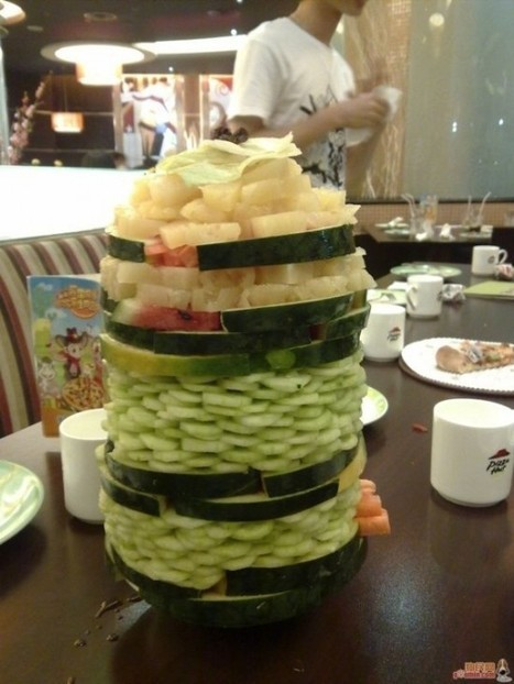 Edible Architecture – The Creative Food Towers That Destroyed Salad Bars in China | Strange days indeed... | Scoop.it