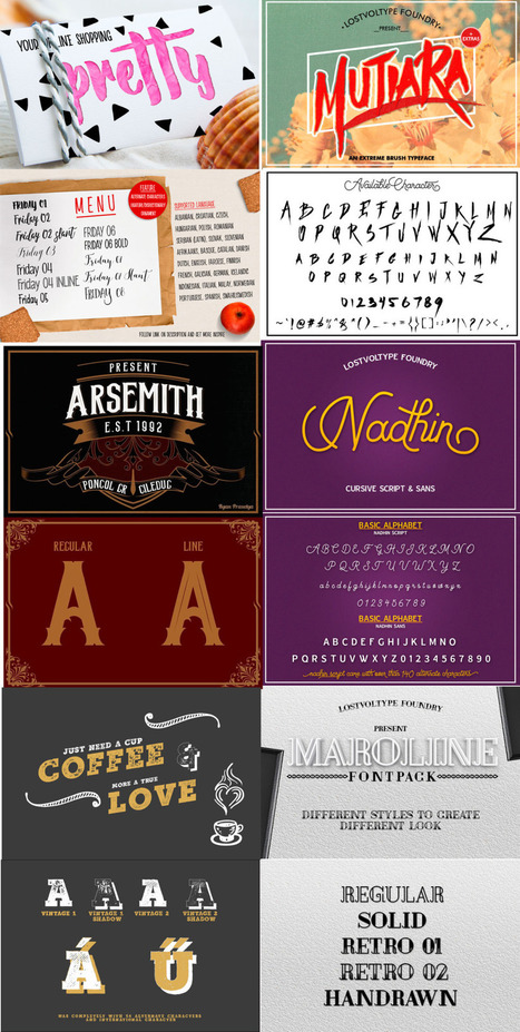 33 font types from 10 font families - $5 (ends today) | Font Deal | Design Freebies & Deals | Scoop.it