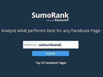 SumoRank, un service en ligne gratuit pour analyser une page #Facebook | Time to Learn | Scoop.it