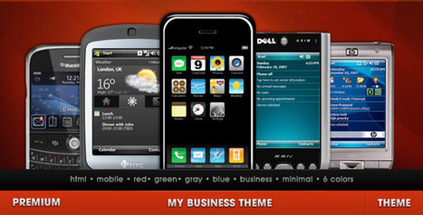 20 All Time Best Premium Mobile Theme and Templates   Get your PSD's Converted to HTML   Scoop.it