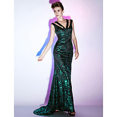 Sequined Sheath/Column V-neck Floor-length Evening Dress inspired by Scarlett Johansson | Angelasmith | Scoop.it