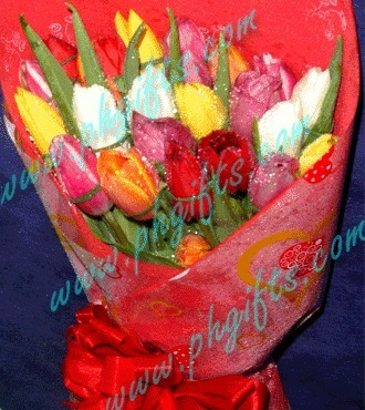 Send Tulips Flower Bouquet Online Same Day Free Delivery to Philippines | mother's day flower | Scoop.it