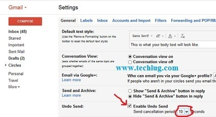 How To Activate Undo Send In Gmail | Dawatech Blog | Scoop.it