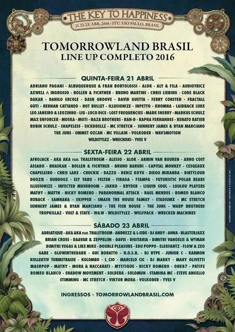 Tomorrowland Brasil reveals 2016 lineup | DJing | Scoop.it