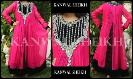 Kanwal Sheikh Women Semi Formal Winter Dresses   fashion   Scoop.it