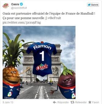 Oasis nouveau partenaire de l'Equipe de France de Handball | Coté Vestiaire - Blog sur le Sport Business | Scoop.it