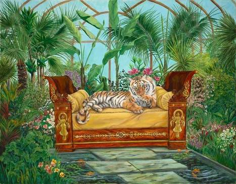 Tiger on a Couch | Wildlife Paintings by: Laura Curtin | Good News for Artists | Scoop.it