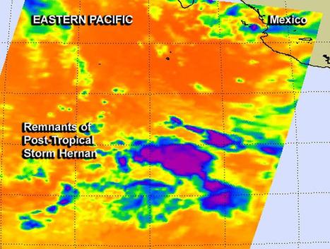 NASA sees warmer cloud tops as Tropical Storm Hernan degenerates   Physics   Scoop.it