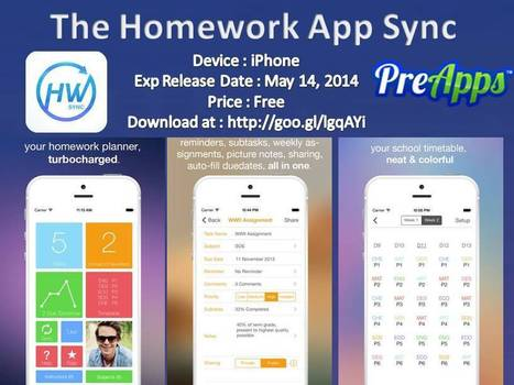 The Homework App Sync - New iPhone App - Imgur | Pre Apps - New iPhone, iPad, Android, Apps and Reviews | Scoop.it