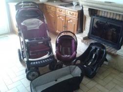 Poussette 3 en 1 GRACCO 4 roues - Poussettes - Promenade - ENTRE-Parents.fr   Femmes enceintes, Grossesse, entraide entre mamans et futurs mamans !   Scoop.it