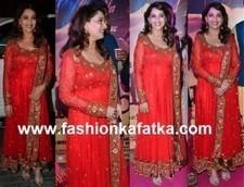 Madhuri Red Floor Length Anarkali   Fashion   Scoop.it