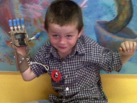 5-year-old gets 3-D printed 'Robohand' from Internet collaborators | The 3DP Report | Scoop.it