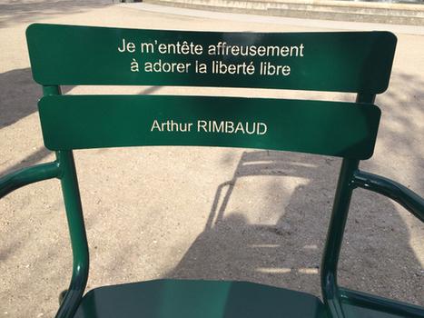 Les chaises- poèmes du Jardin du Palais Royal à Paris | A savoir | Scoop.it