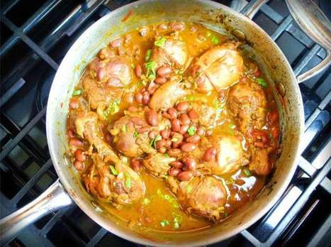 Caribbean Stewed Chicken With Red Beans Recipe. | CaribbeanPot ... | 4-Hour Body Bean Cookbook | Scoop.it