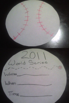 World Series party invitations your kids can make - Yahoo! Sports | Creative and Inexpensive Party Planning Ideas | Scoop.it