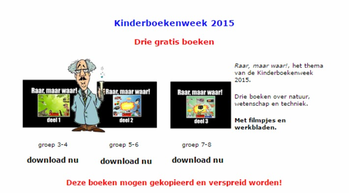 Eduboek.nl : 3 Gratis boeken downloaden voor de Kinderboekenweek 2015. | Educatief Internet - Gespot op 't Web | Scoop.it