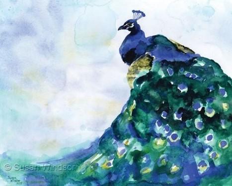 Color + Design Blog / Sweet and Delicate Watercolor Animals by Susan Windsor by COLOURlovers :: COLOURlovers   regard par la fenêtre de lestoile sur les arts   Scoop.it