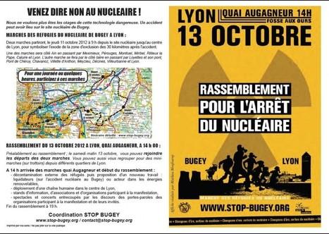 13 OCTOBRE 2012 - MARCHES DES REFUGIES DU NUCLEAIRE | COLLECTIF STOP BUGEY (01) | Le Côté Obscur du Nucléaire Français | Scoop.it