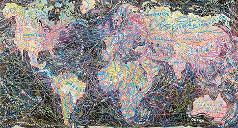 Stunning Subjectivity: Obsessive Typographic Maps by Paula Scher | ASCII Art | Scoop.it