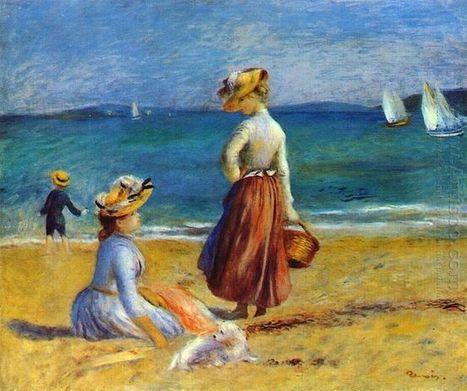 Oil painting reproduction: Pierre Auguste Renoir Figures On The Beach - Artisoo.com | Landscapes oil paintings | Scoop.it