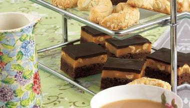 BBC - Food - Recipes : Chocolate and hazelnut caramel bars | My Favourite Foodie Recipes | Scoop.it