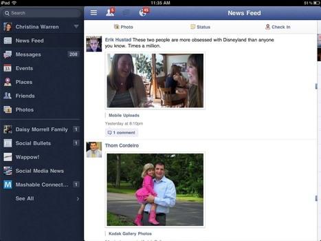 Facebook, Google+… les réseaux sociaux vont se mettre à jour sur iPad | Tablettes tactiles et usage professionnel | Scoop.it