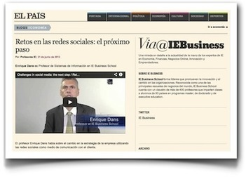 Retos en la gestión corporativa de la web social, en El País