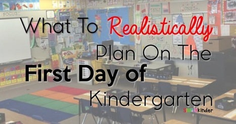 What To Plan on The First Day of Kindergarten! - Simply Kinder | Cool School Ideas | Scoop.it