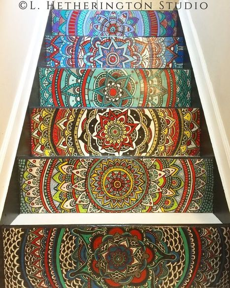 #Artist turns #Stairs Into A #Colourful #Mandalas #art | Luby Art | Scoop.it