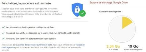 Google: 2 Go offerts pour une vérification des paramètres de sécurité | Informatique TPE | Scoop.it