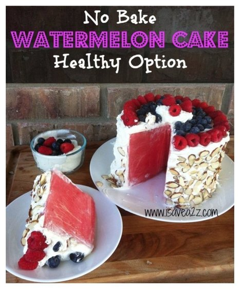 Paleo Watermelon Cake Recipe | Vegetarian and Vegan | Scoop.it