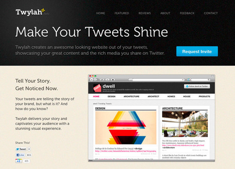 Twitter Brand Pages by Twylah | Get a custom brand page for your tweets. | Cabinet de curiosités numériques | Scoop.it