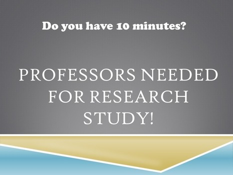 Faculty needed for research study! | Virtual HRD | Scoop.it