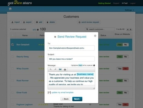 REVIEWS - How to Get More Positive Customer Reviews, Using Get Five Stars   Personal   Scoop.it