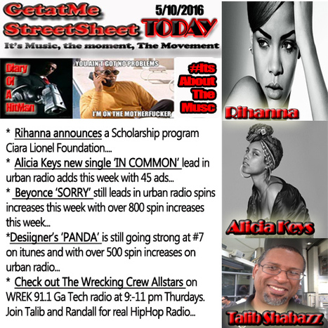 GetAtMe StreetSheet TODAY- Rihanna starts a foundation tohelp  students with education scholarships... #ItsAboutTheMusic | GetAtMe | Scoop.it