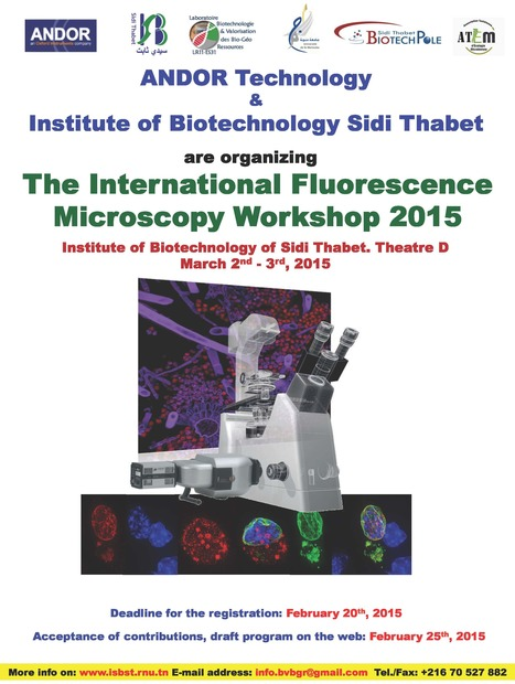Fluorescence Microscopy Workshop Monday March 2nd to Tuesday March 3rd, 2015 | Institut Pasteur de Tunis-معهد باستور تونس | Scoop.it