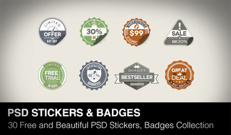 30 Beautiful and Free PSD Stickers, Badges Collection of 2013 | Daily Design Notes | Scoop.it