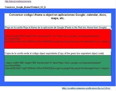 4x4 Technology - Conversor i-frames a object para aplicaciones Google | Tic, Tac... y un poquito más | Scoop.it